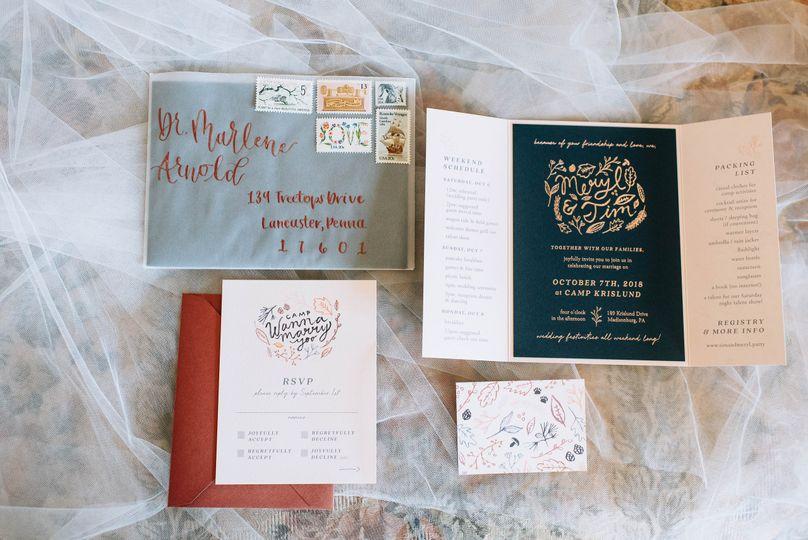 Invitation card opened | Lauren Allmond Photography