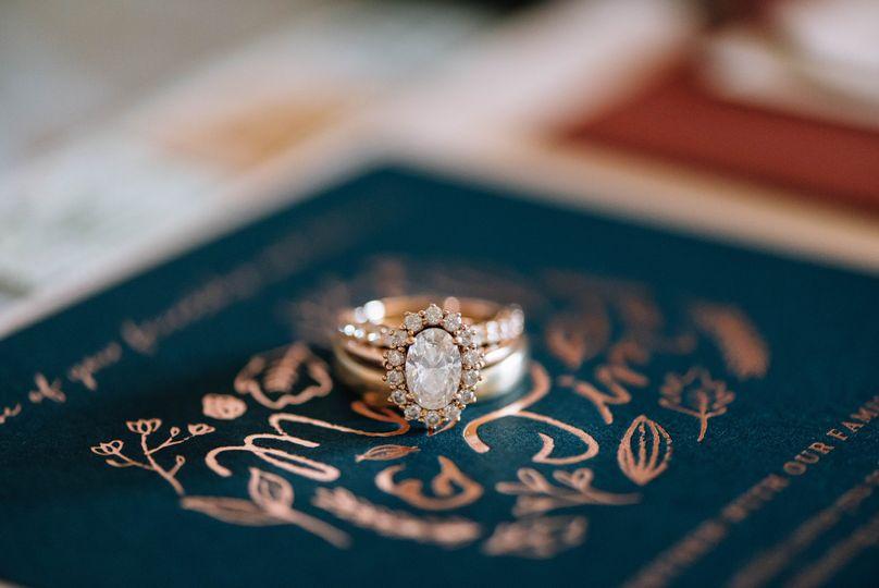 Ring on the invite | Lauren Allmond Photography