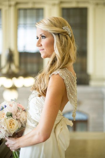 Bride with her hair down