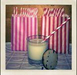 candy station, striped candy bag, candy station supplies