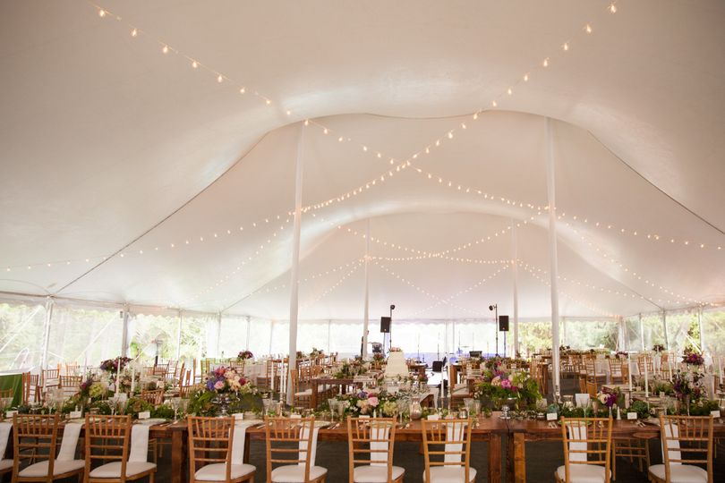 Wedding reception set-up