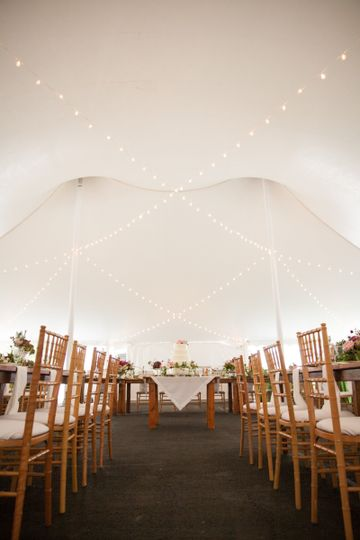 Tent wedding reception set-up
