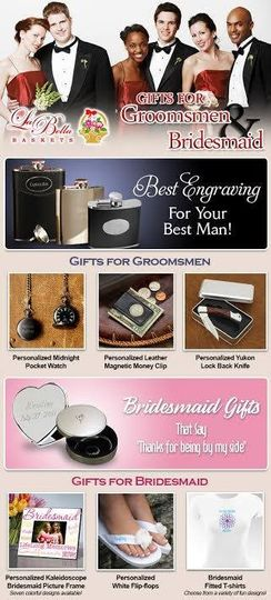 Great wedding gifts for Him and Her.  Make it extra special with engraving. www.ABasketFullOfJoy.com