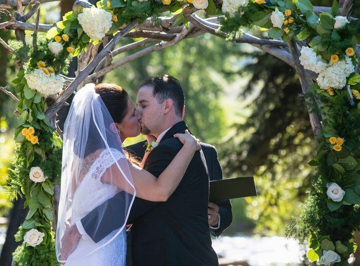 Ceremonial first kiss