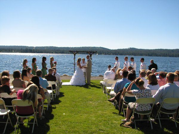 Wedding ceremony in McCall ID.