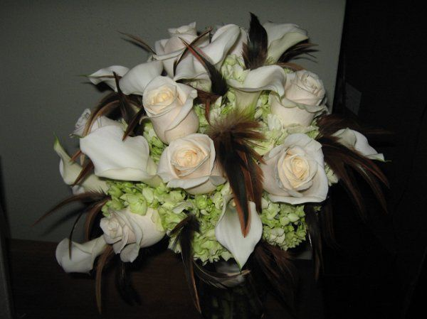 White flowers with feathers