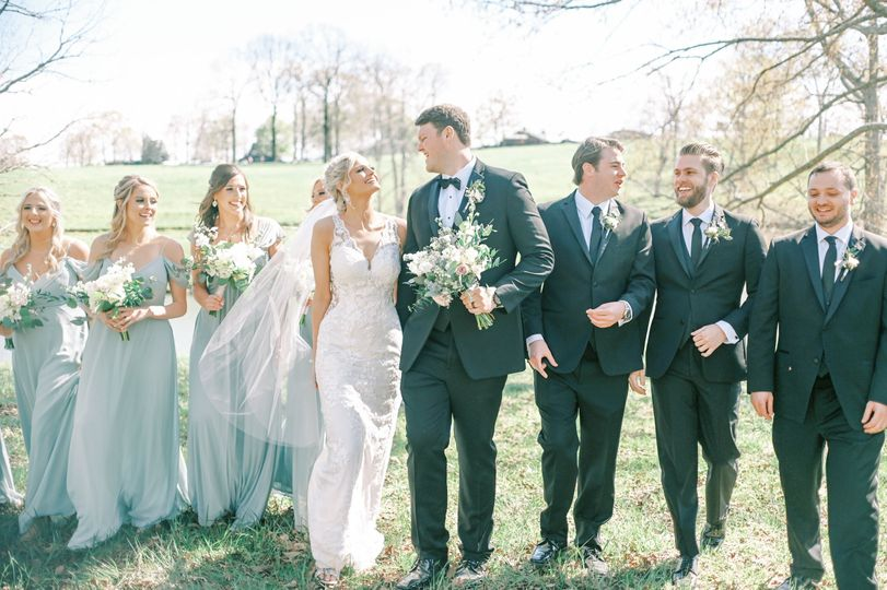 The most fun bridal party