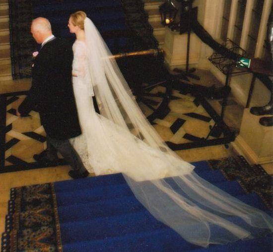 Silk tulle wedding veil