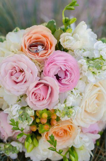 Blush Pink Bridal Bouquet Florals by Rhonda llc Rachel Abell Photography