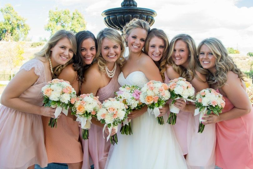 Blush Pink Bridal Bouquets Florals by Rhonda llc Rachel Abell Photography
