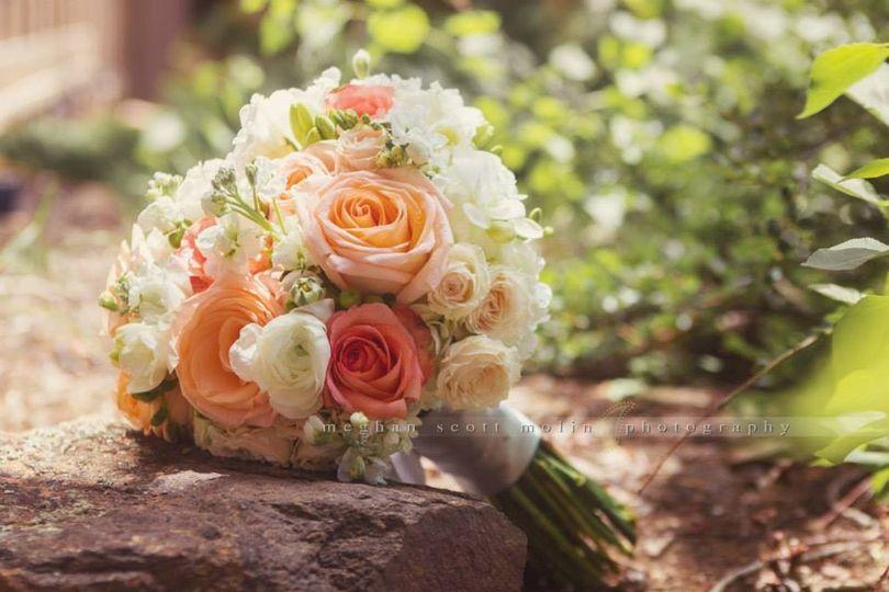 Peach Vintage Bridal Bouquet Florals by Rhonda llc