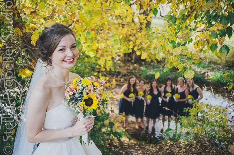 Sunflower Bridal Bouquet Florals by Rhonda llc Stellar Propeller Photography