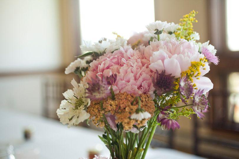 pastel wild flower bridal bouquet florals by rhond