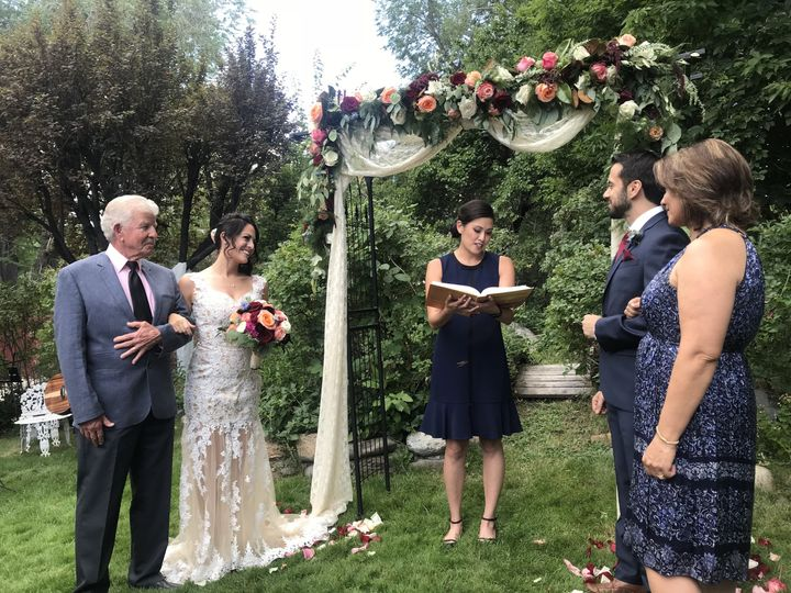 Performing the ceremony