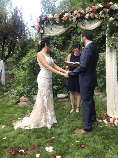 Mindy's first wedding
