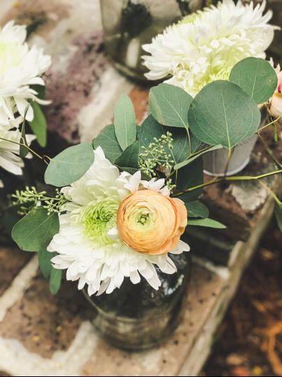 Peach and Cream Flowers