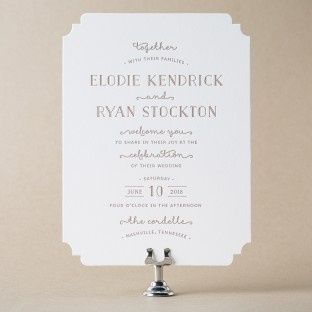 Simple invitation