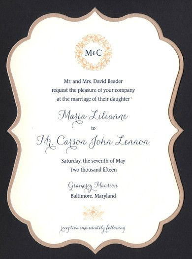 Invitation with frame