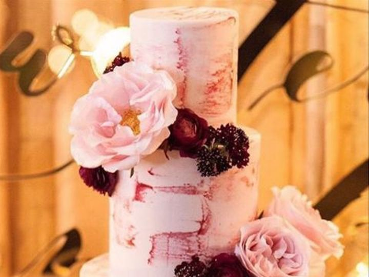 Tmx 1520540938 2b6abf8b59a9fa5c 1520540938 77cf32407af5b564 1520540935755 3 Marbled Blackberry Los Olivos wedding cake