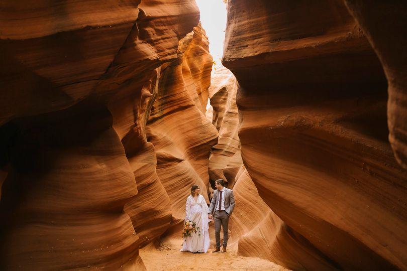 Slot canyon elopement Arizona