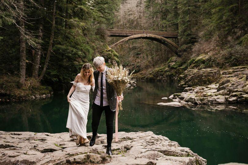 Hiking elopement
