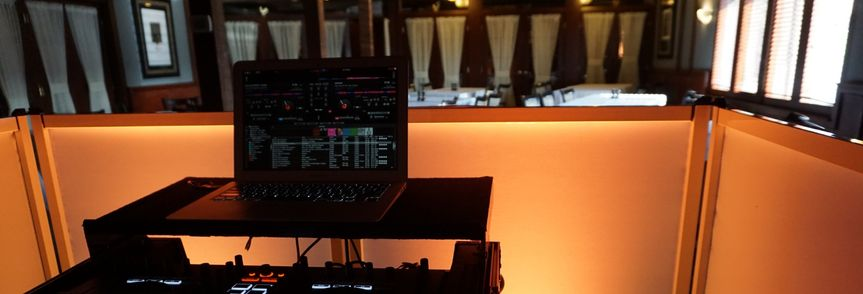 Customized DJ booth
