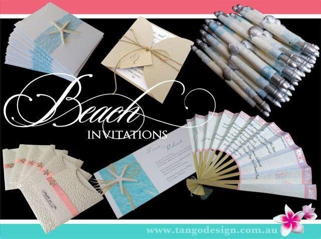 Beach wedding invitations, destination, tropical or seaside weddings