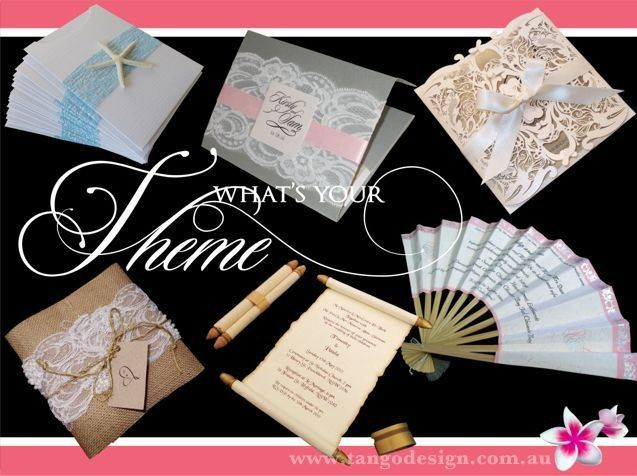 Traditional wedding invitations with no specific theme.