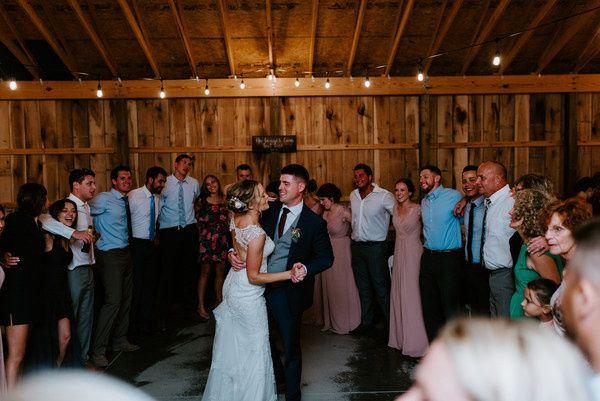 Barn wedding dance