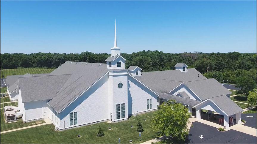 Drone footage of wedding