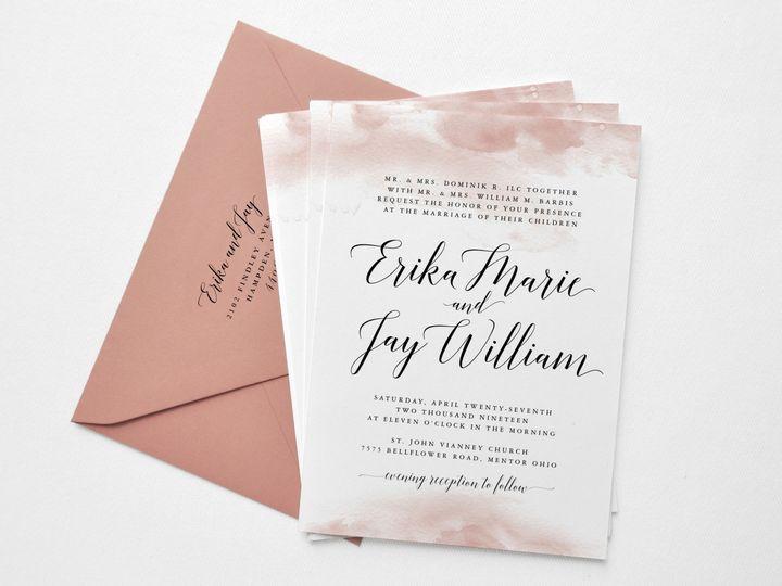 Tmx Erika And Jay Custom Wedding Invitation Suite Invitation Card Paper Hearts Design Co 51 1375465 157991325233262 Mentor, OH wedding invitation