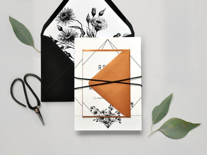 Tmx Geometric Industrial Wedding Invitation Suite Formal Paper Hearts Design Co 51 1375465 157991335367098 Mentor, OH wedding invitation