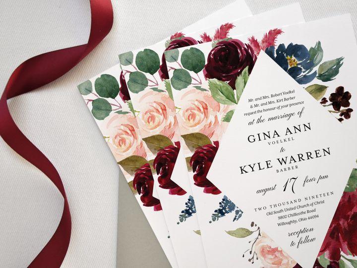 Tmx Gina And Kyle Custom Wedding Invitation Suite Invite Stack Paper Hearts Design Co 51 1375465 157991351368792 Mentor, OH wedding invitation