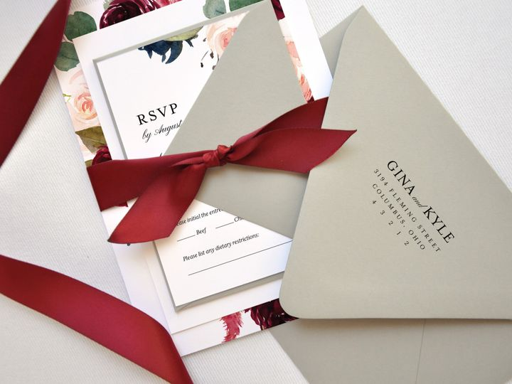 Tmx Gina And Kyle Custom Wedding Invitation Suite Suite With Return Addressed Envelope Paper Hearts Design Co 51 1375465 157991349886416 Mentor, OH wedding invitation