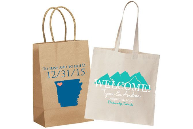 personalized wedding tote bags