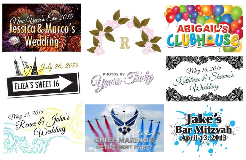 Our graphic design team will match your photostrip header to your invitations or create a custom...