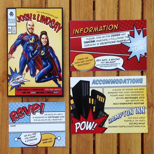Superhero themed invitation