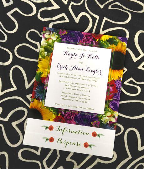 Colorful invitation