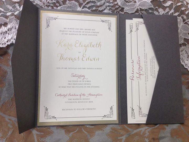 Black envelope invitation