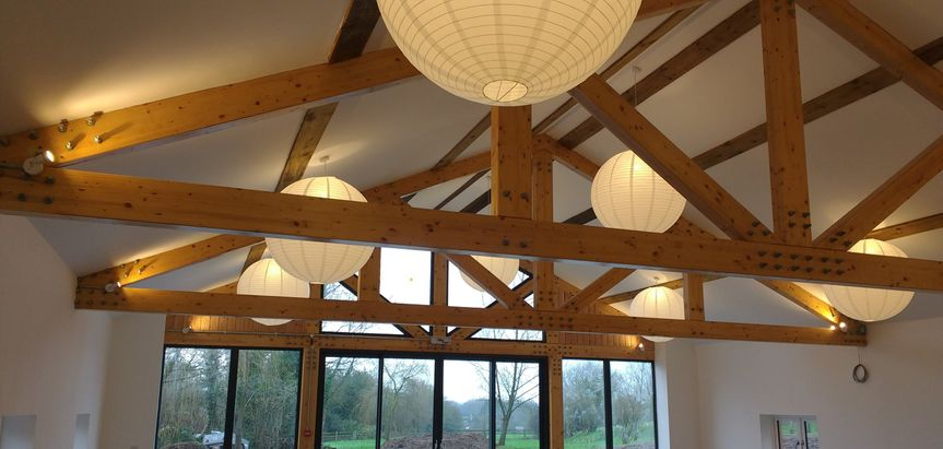 higher holcombe devon wedding barn lights 51 1038465 v1
