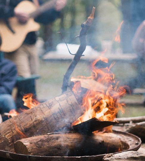 Fire pit acoustic music