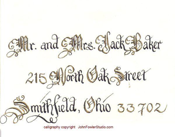 Tmx 1335927968450 CopyrightcalligraphersaddressingweddingenvelopesAddEnvBlackandGold1 Florence wedding invitation