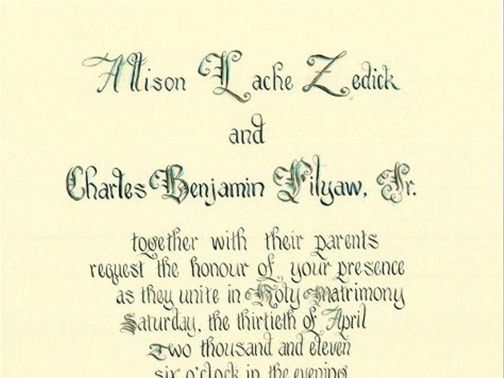 Tmx 1335929693947 CopyrightFilyawDisplayWeddingInvitationinCalligraphy Florence wedding invitation