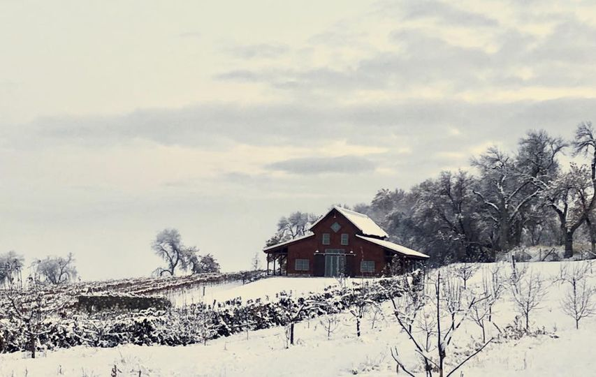 Barn at wintertime