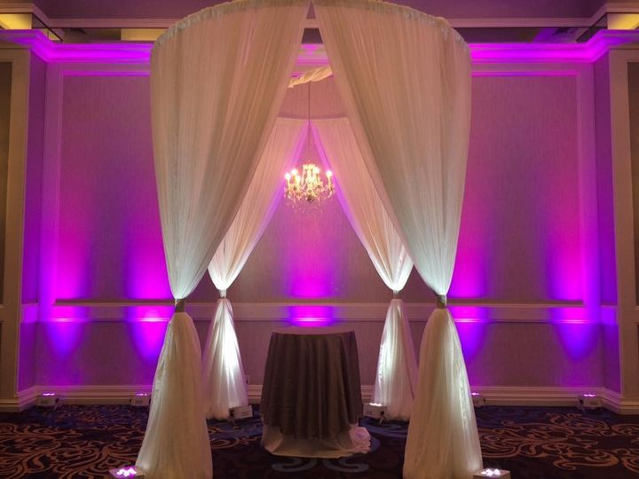 Tmx 1482961869607 Draped Round Canopy With Chandelier  Up Lights Tampa, FL wedding dj