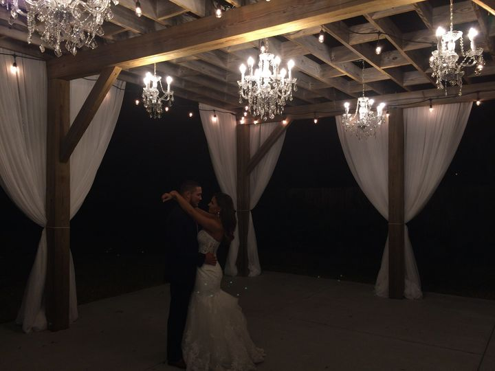 Tmx 1482962023927 Bakers Ranch   Draped Swag  Chandeliers On Pergola Tampa, FL wedding dj