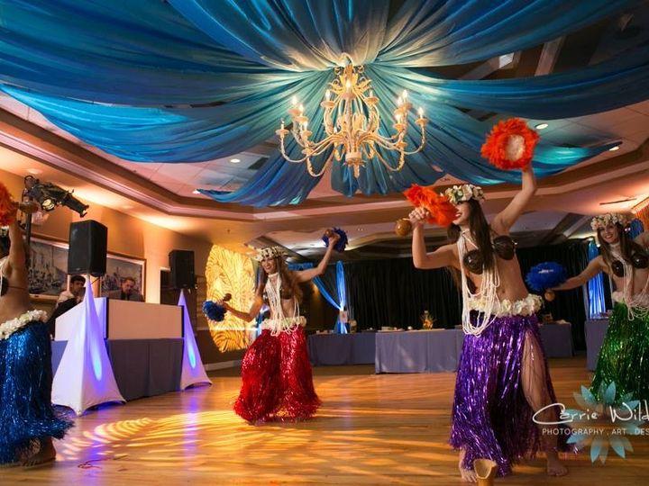 Tmx 1482962670954 Isla Del Sol   Blue Ceiling Draping  Gobos Tampa, FL wedding dj