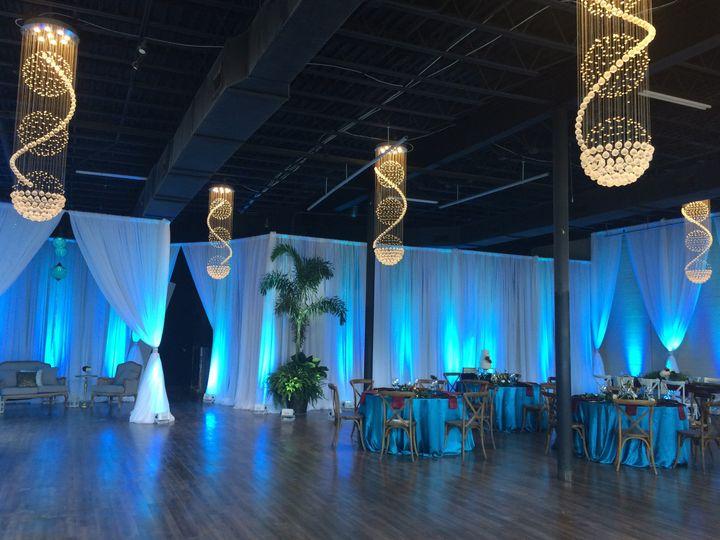 Tmx 1482971713421 Draping With Blue Up Lighting Tampa, FL wedding dj