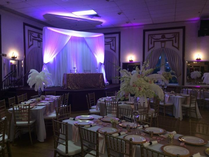 Tmx 1515010431166 Backdrop With Swag  Valence  Lights Tampa, FL wedding dj