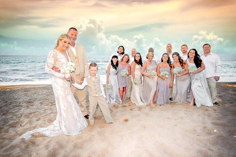 Beach wedding photoshoot